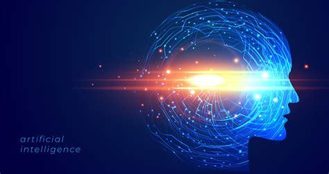 futuristic artificial intelligence face technology