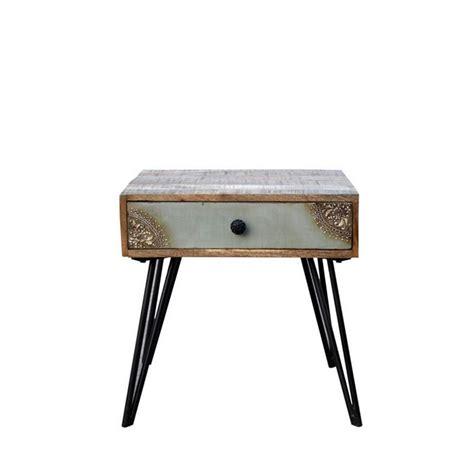 pouf chambre table de chevet vintage en bois fusion by drawer