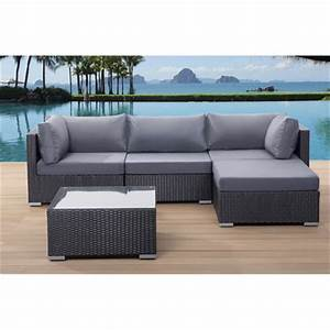 velago sectional outdoor sofa set sano black wicker With outdoor sectional sofa canadian tire