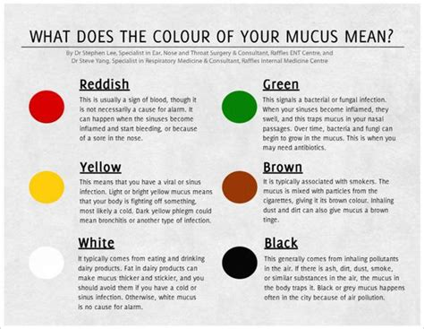 color of snot meaning mucus color chart mucus color chart what it means when