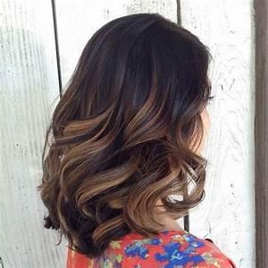 Ombré Hair Marron Caramel : balayages m ches et ombre hair sur cheveux mi longs ~ Farleysfitness.com Idées de Décoration