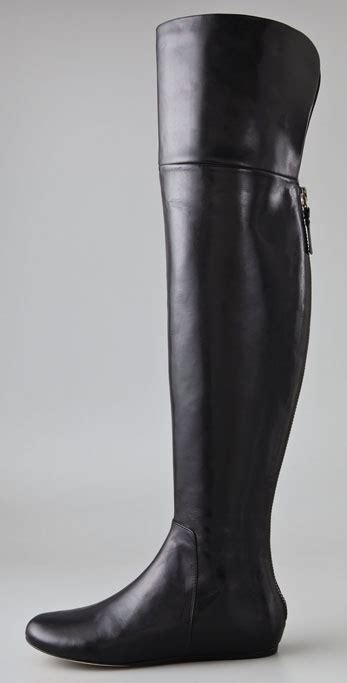 lyst vera wang lavender larissa   knee boots  black