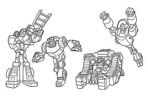 rescue bots coloring pages  kids printable