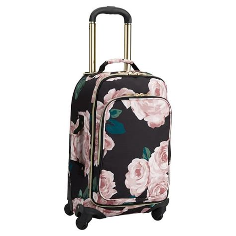pottery barn suitcase the emily meritt floral carry on spinner pbteen