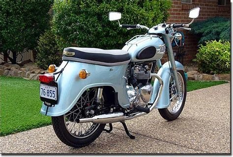 Classic 1958 Triumph Motorcycle. Www.throttlexbatteries