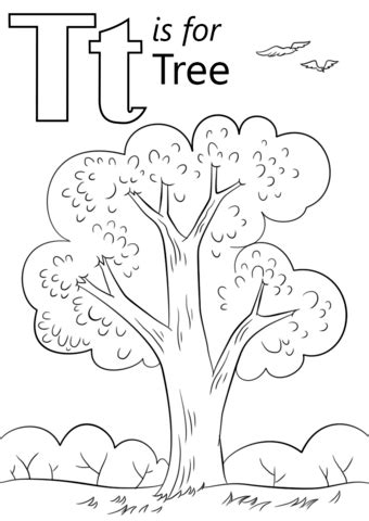 letter    tree coloring page  printable coloring pages