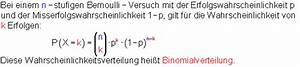Binomialverteilung Berechnen : bernoulli versuch ~ Themetempest.com Abrechnung