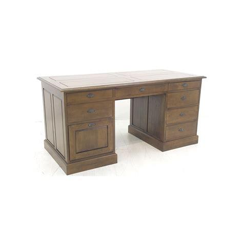 tiroirs bureau bureau 8 tiroirs hévéa 160cm tradition pier import