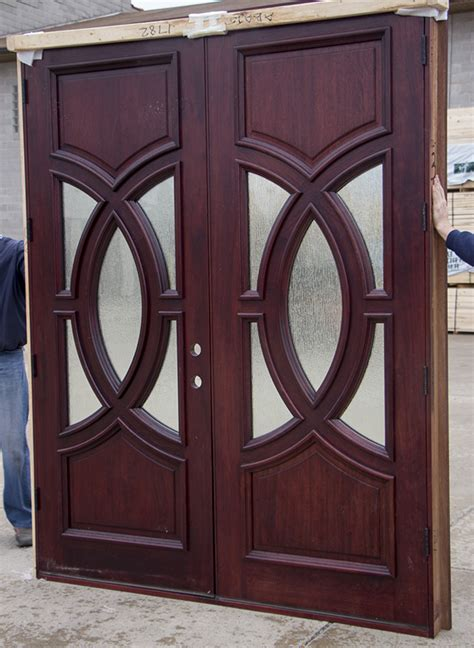 clearance exterior double doors  red mahogany