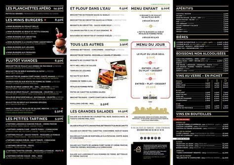 Carte De Menu Restaurant by Les Bons Copains Au Menu Chez Les Bons Copains