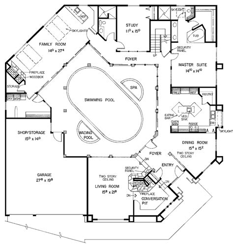 u shaped house plans courtyard pool woodguides