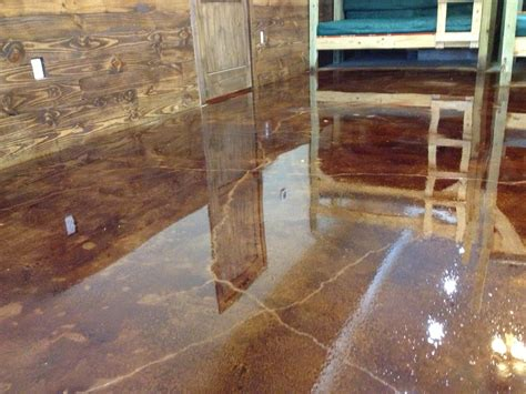 stained cement floors diy concrete stain floors waters edge encment floors of color