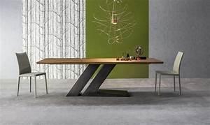 Table Contemporaine Bois Et Metal : tavoli di design le novit per il salone ~ Teatrodelosmanantiales.com Idées de Décoration