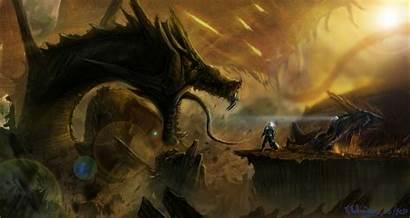 Sci Fantasy Fi Dragon Monster Fantastic Monsters