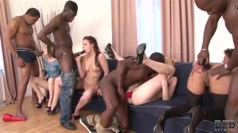 Double Penetration Orgry Group Fuck Black Cocks And White