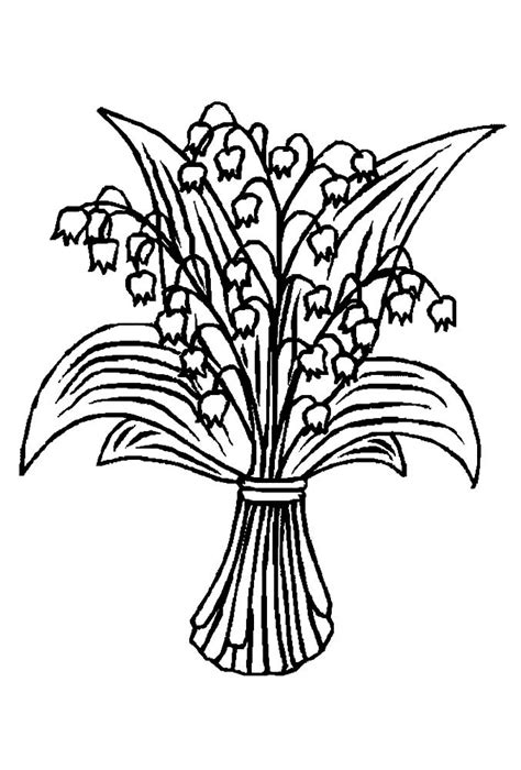 lily   valley coloring pages    print