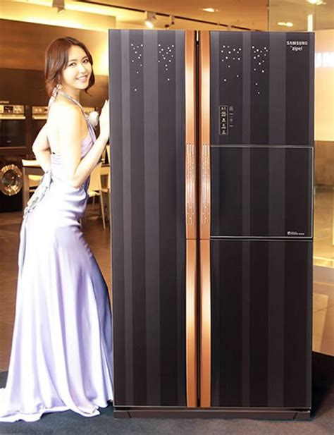 samsung refrigerator fridge zipel diary tech hi kitchen korean communicate through gold refrigerators luxurylaunches zucchi fagor homedit latest unveils gadget