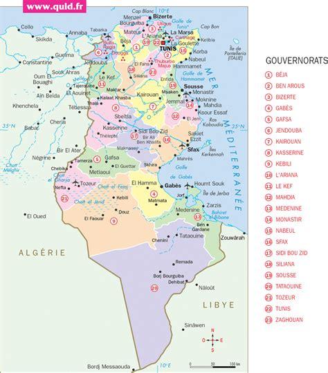 Carte Du Monde Tunisie by Carte Tunisie Carte Du Monde