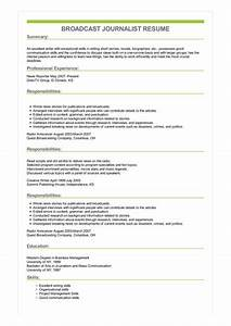 Sample Of Great Resume Sample Broadcast Journalist Resume