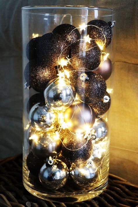 Lichterkette In Vase by Unsere Deko Idee F 252 R Eure Weihnachtskugeln Und Eine