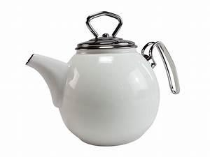 Teekanne 1 5l : haushalt krausse schwerter email teekanne 1 5l wei online kaufen ~ Watch28wear.com Haus und Dekorationen