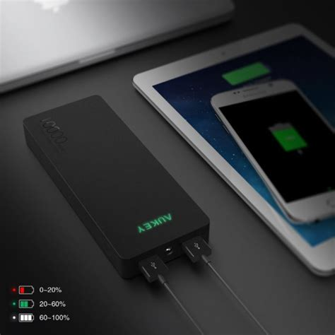 aukey table l review aukey 10000mah quick charge 2 0 external battery can