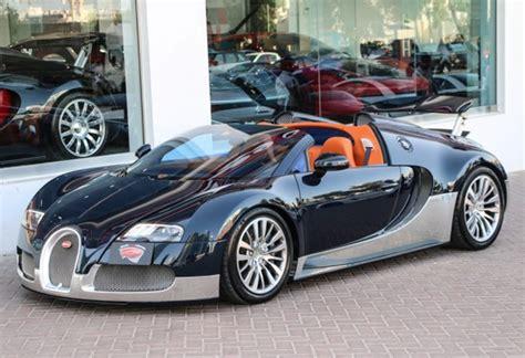 Blue And Silver Bugatti Veyron Grand Sport For Sale