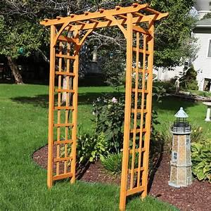 Sunnydaze, Wooden, Garden, Arbor, Walkway, Wedding, Arch