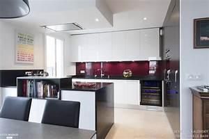 cuisine ouverte sur salle a manger et salon avec ilot sk With cuisine ouverte sur salle a manger et salon