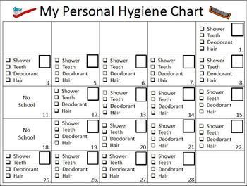 Galatians 6 10 Coloring Page Bluebells Class Personal Hygiene Chart By Empowered By Them Teachers Pay