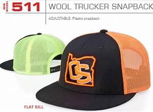 511 Wool Trucker Mesh Snapback Adjustable Hat by
