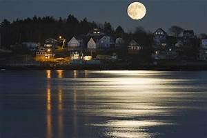 moon kennebec river georgetown island maine