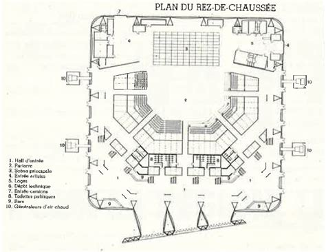 plan salle zenith caen plan du rez de chauss 233 e salle de spectacle le z 233 nith chaix et morel la villette xixe