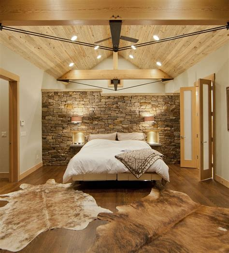 bedroom with walls 25 bedrooms that celebrate the textural brilliance of stone walls