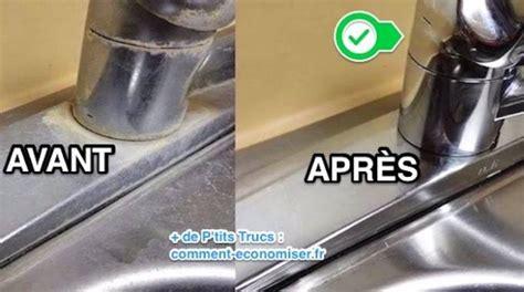 comment nettoyer robinet inox comment faire dispara 238 tre les taches de calcaire sur l inox avec du vinaigre blanc