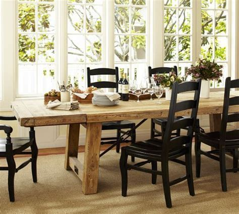 Pottery Barn Farmhouse Chairs by Benchwright Extending Dining Table Pottery Barn