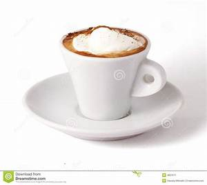 Coffee with ice-cream stock image. Image of espresso ...