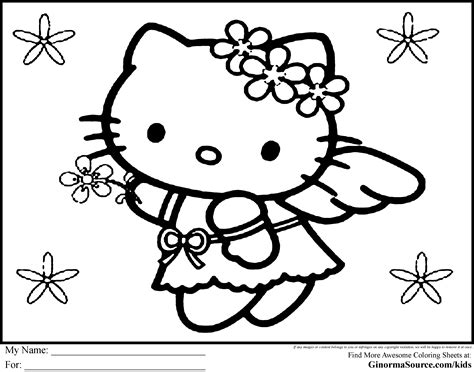 large  kitty coloring pages   print