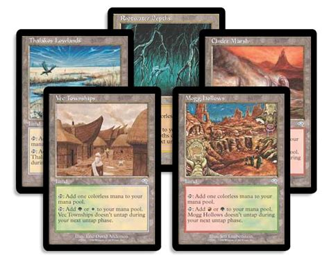 land decks mtg a brief history of tap lands magic the gathering