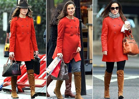 El abrigo rojo de Zara de Pippa Middleton
