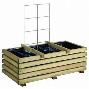 Jardinière Rectangulaire Pas Cher : jardiniere en bois avec treillis ~ Preciouscoupons.com Idées de Décoration