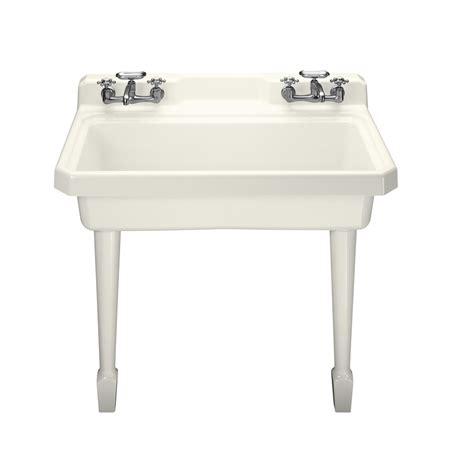 kohler utility sink shop kohler biscuit cast iron laundry sink at lowes