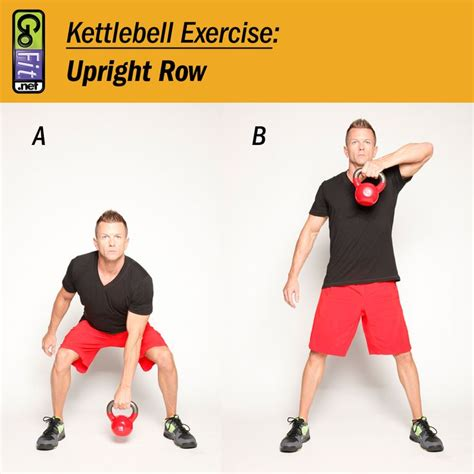kettlebell exercises workouts reverse position standing quadriceps row chest upright quad exercise hips wide head pull knees