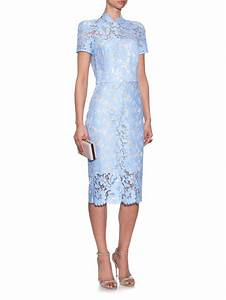 Lyst - Lover Warrior French-Lace Midi Dress in Blue