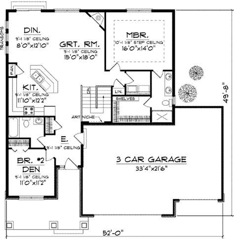 craftsman open floor plans craftsman design with open floor plan 89651ah 1st floor master suite cad available