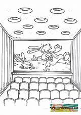 Theater Cine Colorear Dibujo Coloring Dibujos Cinema Dessin Coloriage Pixels Template Sheets sketch template