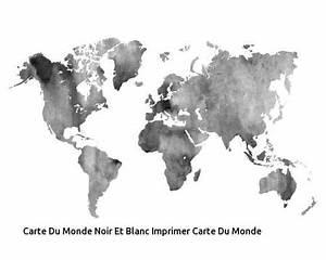 Carte Du Monde Noir : carte du monde noir et blanc routeur hadopi ~ Teatrodelosmanantiales.com Idées de Décoration
