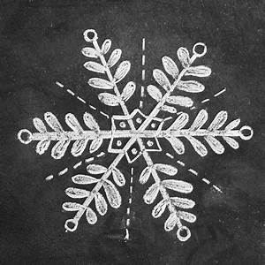 How To Draw 3 Snowflakes For A Hand