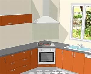 implantation evier en angle plaque cuisson en angle With table de cuisson d angle