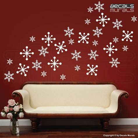 wall decals snowflakes holidays christmas decor surface